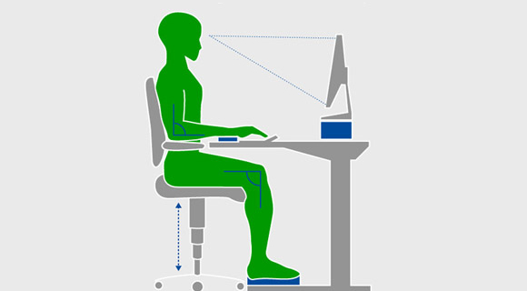 Ergonomic Office: Calculate optimal height of Desk, Chair / Standing Desk