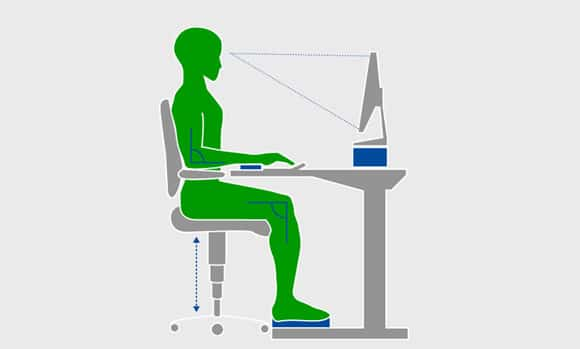 Ergonomic Office: Calculate optimal height of the desk + chair