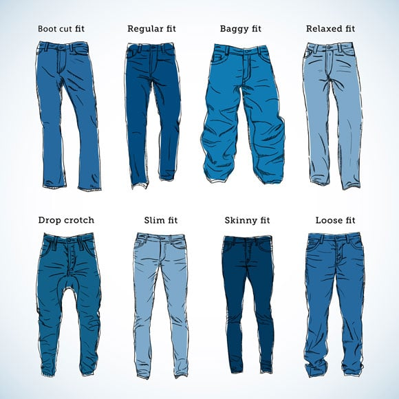 The Diffe Types Of Jeans Boot Cut Fit Regular Baggy Relaxed Drop Crotch Slim Skinny And Loose