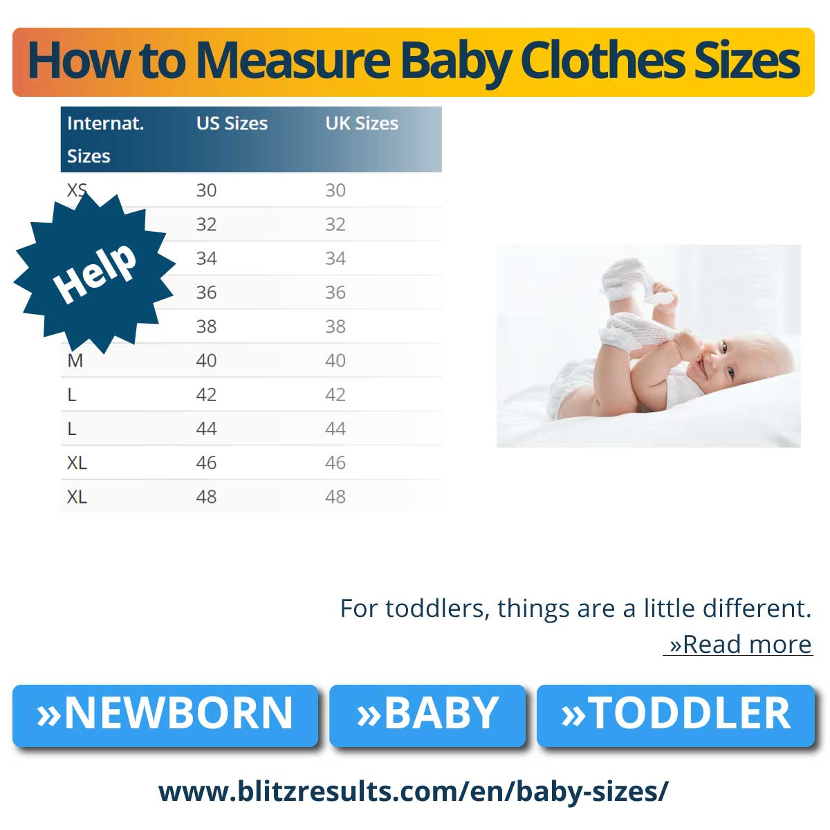 How to Measure Baby Clothes Sizes