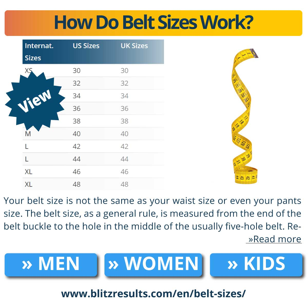 How Do Belt Sizes Work?