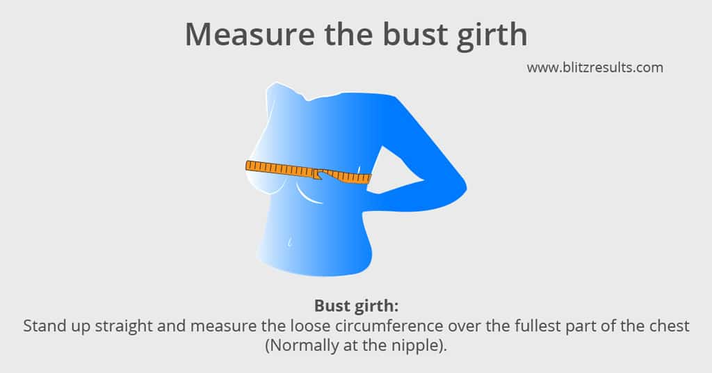 c618f133ee3 Take note of the measurement in inches and centimeters and write it on a  piece of paper. Now look up your bra size in the bra size chart above or  use the ...