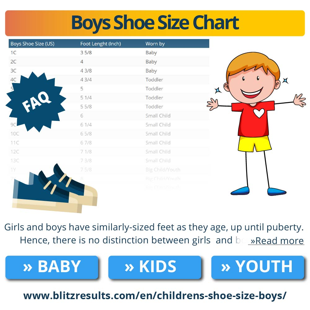 Boys Shoe Size Chart