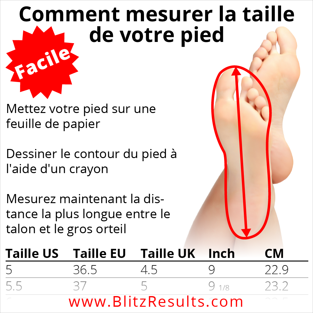 0e1ca61a529 Pointure de Chaussures   Guide + Taille FR