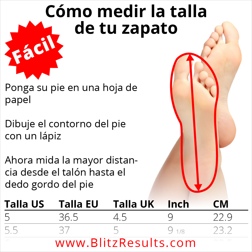 como medir la talla de tu zapato