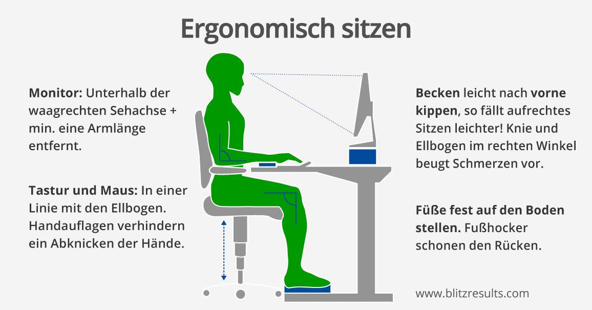 richtig sitzen gegen r ckschmerzen das ergonomische b ro. Black Bedroom Furniture Sets. Home Design Ideas