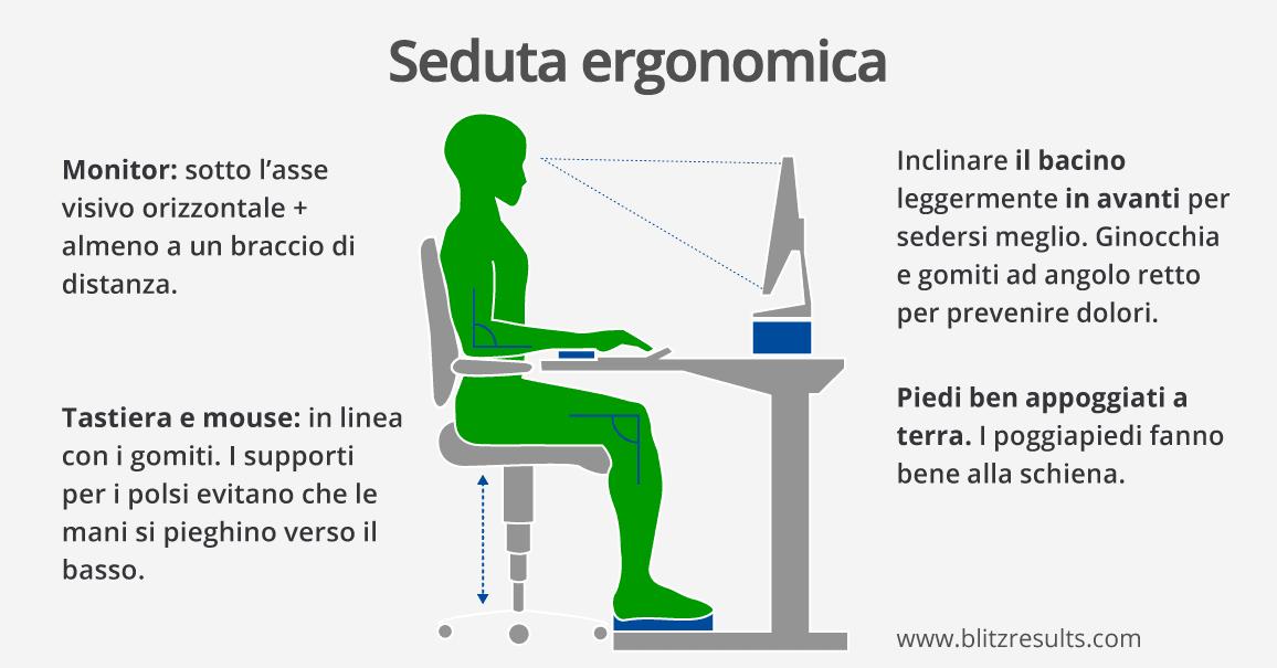 Sedie Da Ufficio Per Postura Corretta.Ufficio Ergonomico Regolare L Altezza Del Tavolo E Regolare