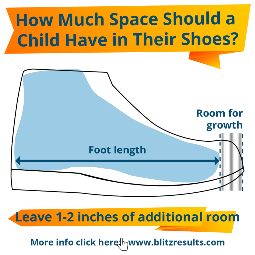 How Much Space Should a Child Have in Their Shoes?