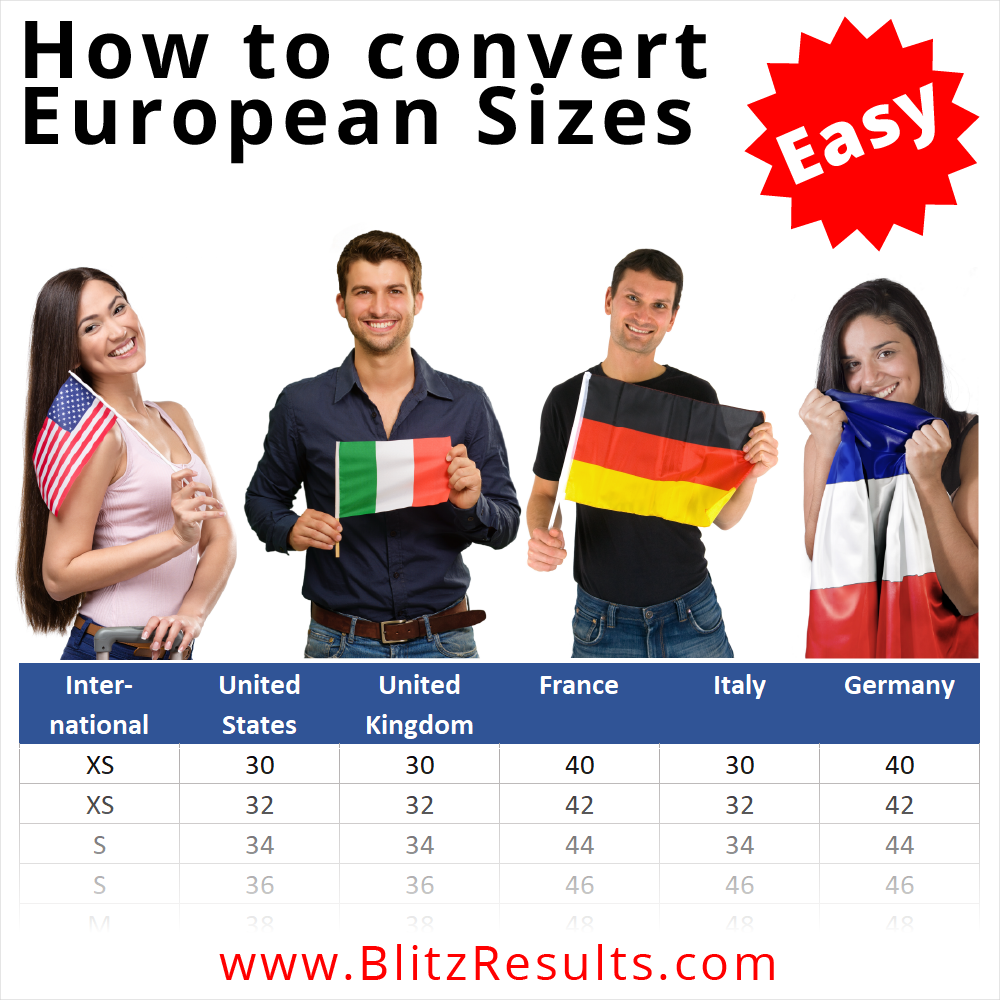 How to convert European Sizes