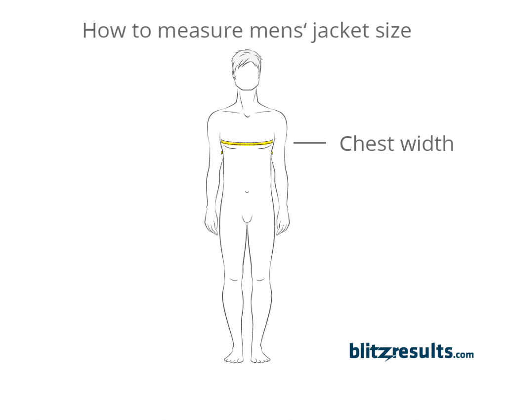 af5f5cc94 Jacket Size Charts  Quick   Easy Sizing Guide + How to Measure
