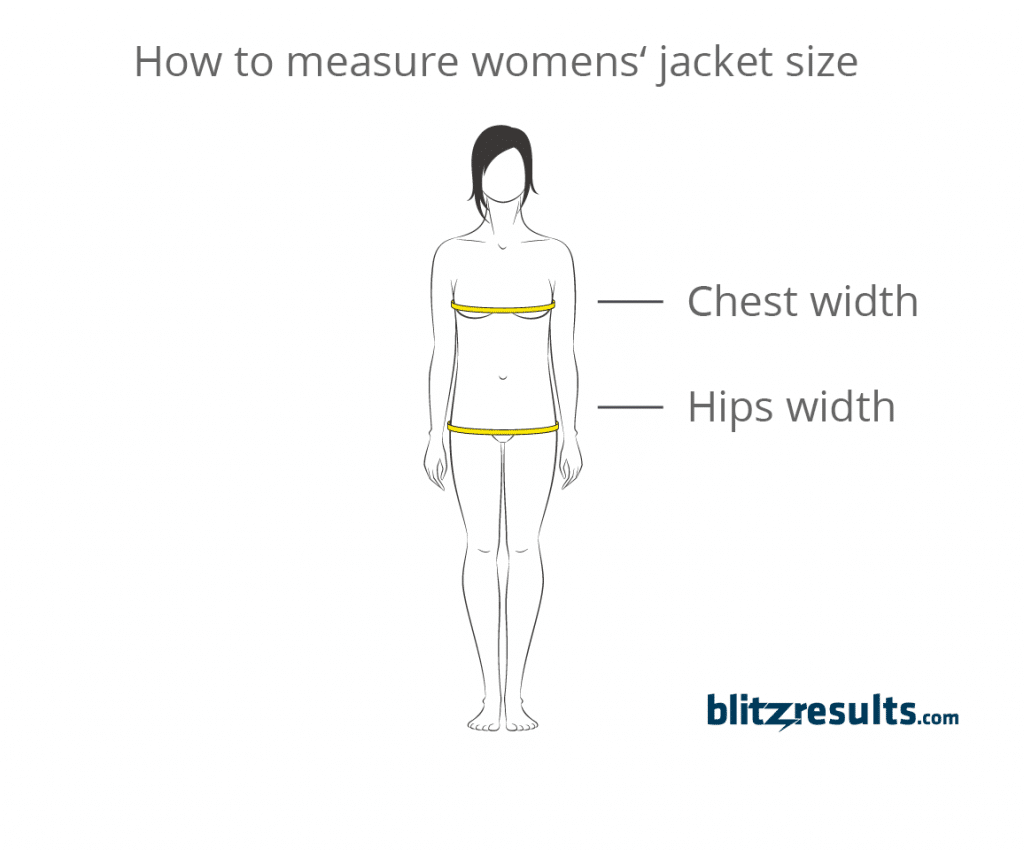 Guide how to measure women's jackets