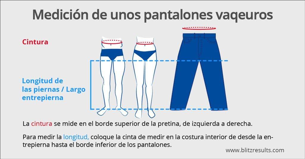 Tallas de Vaqueros Jeans Levi\'s, Diesel, Wrangler + Más!