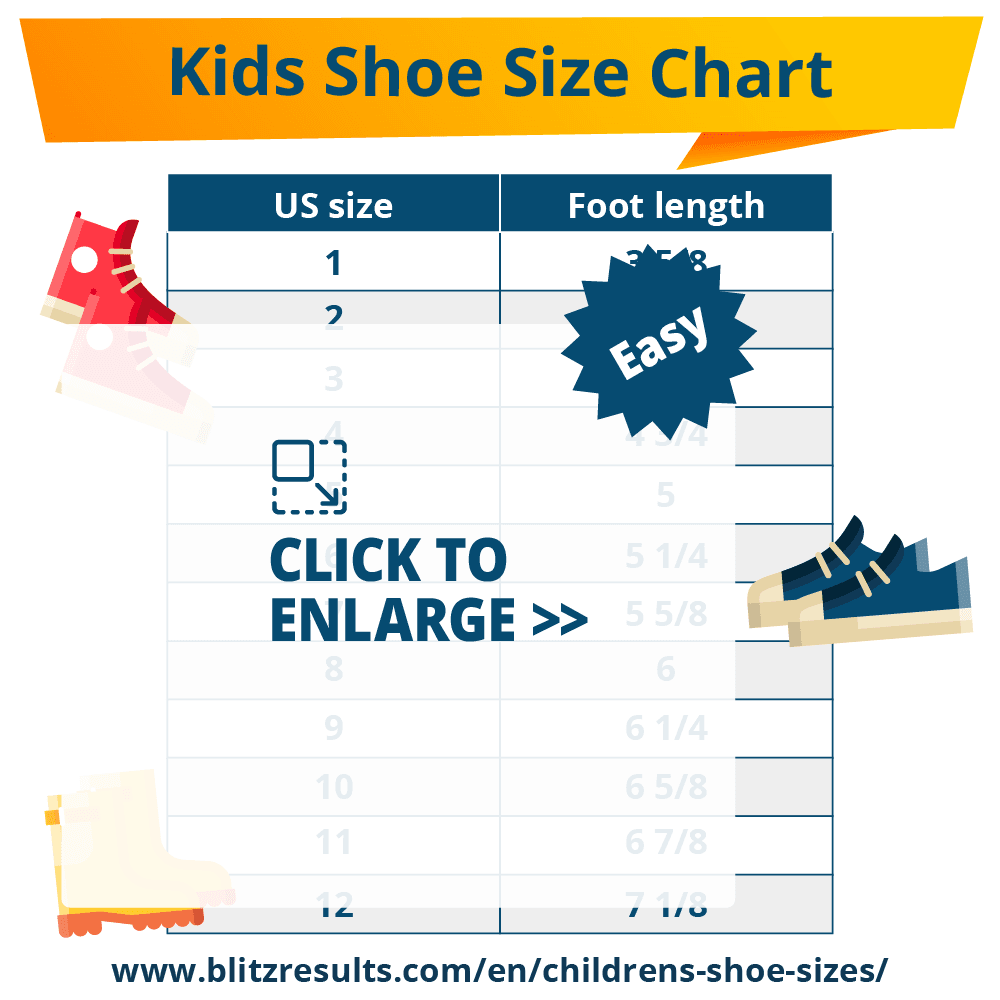 ᐅ Kids Shoe Sizes: Conversion Charts, Size by Age, How to ...