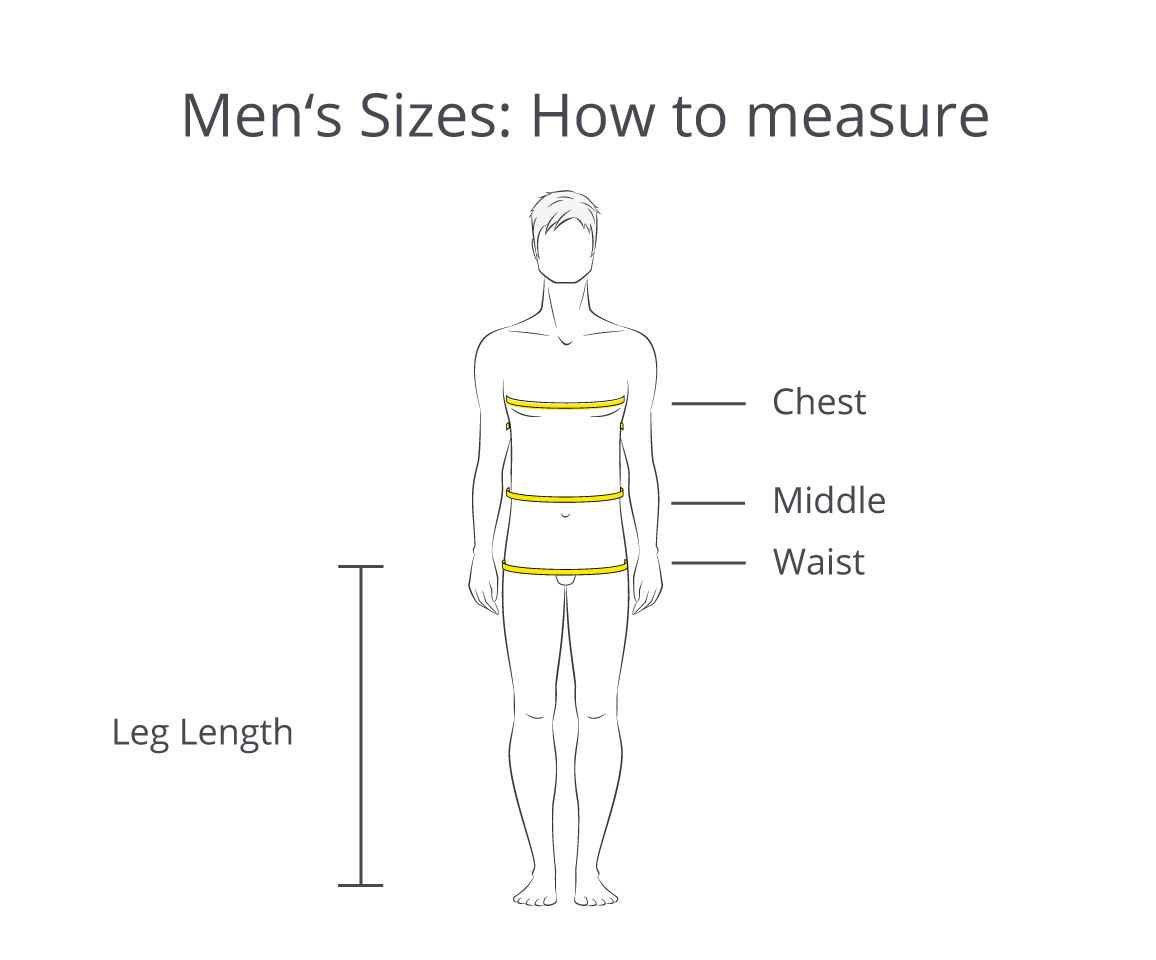 Men's Sizes: Guide How to Measure