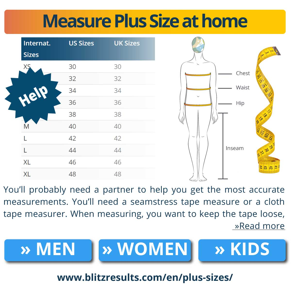Measure Plus Size at home