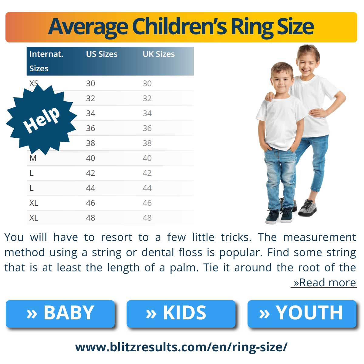 Average Children's Ring Size