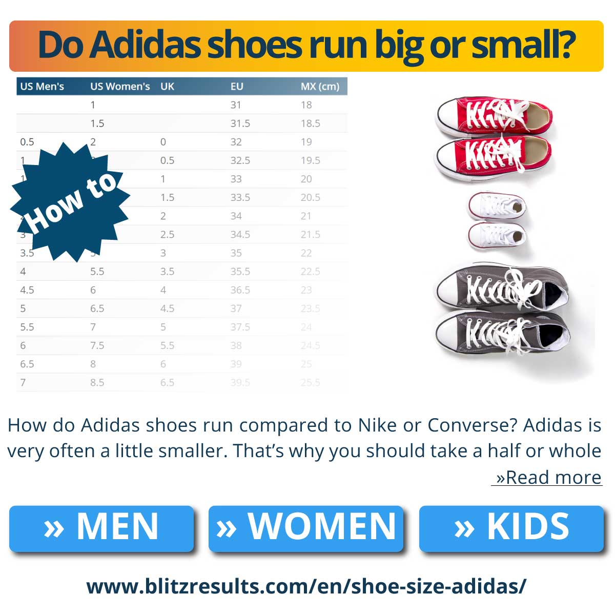 Do Adidas shoes run big or small?