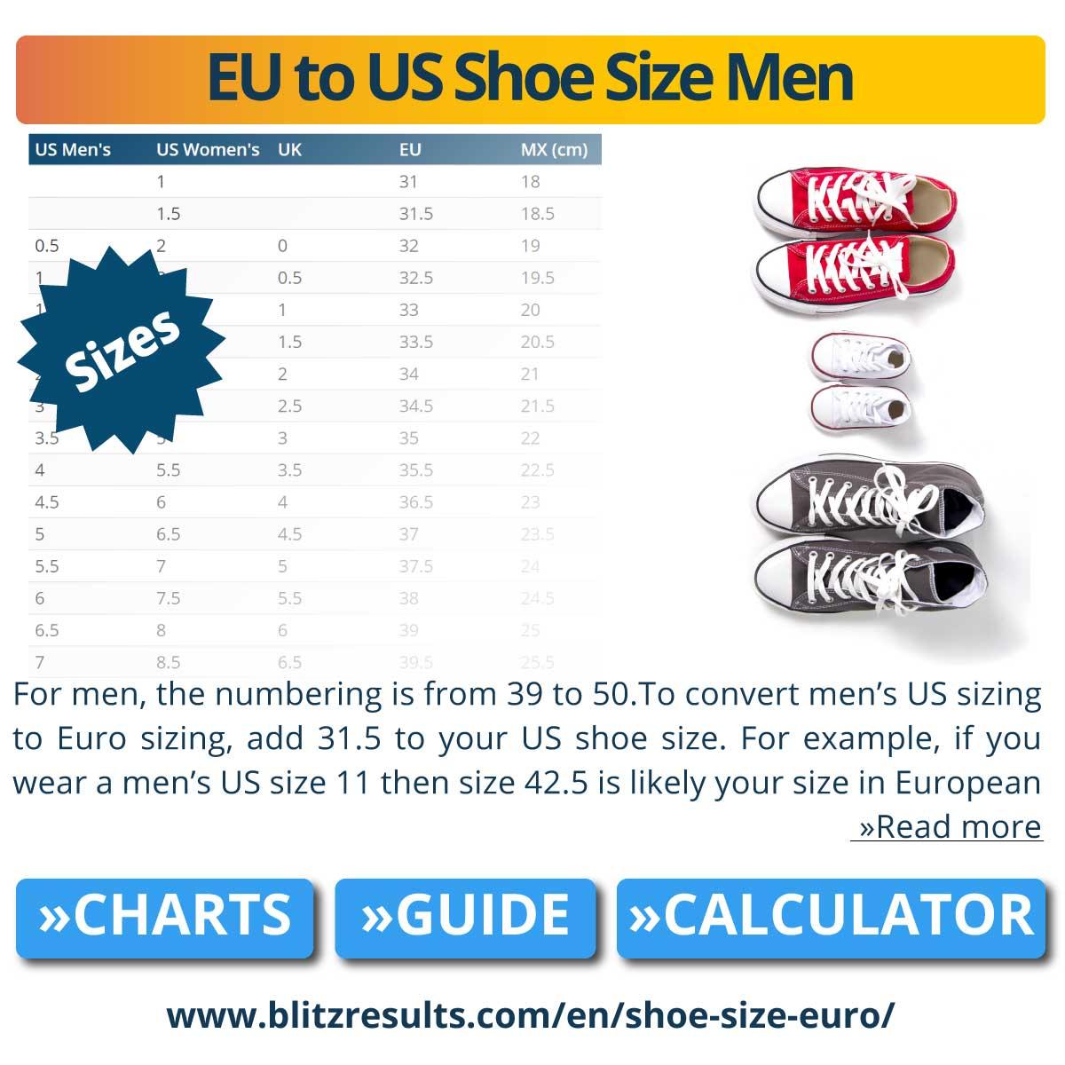 EU to US Shoe Size Men