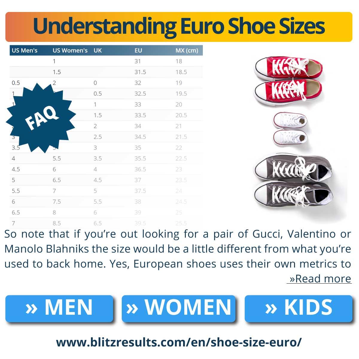 Understanding Euro Shoe Sizes