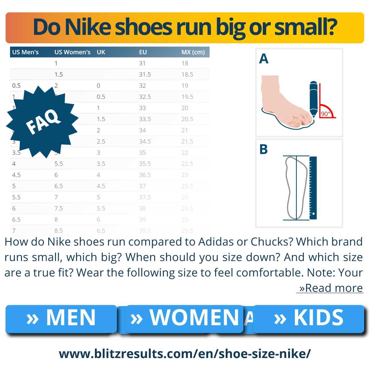 Do Nike shoes run big or small?