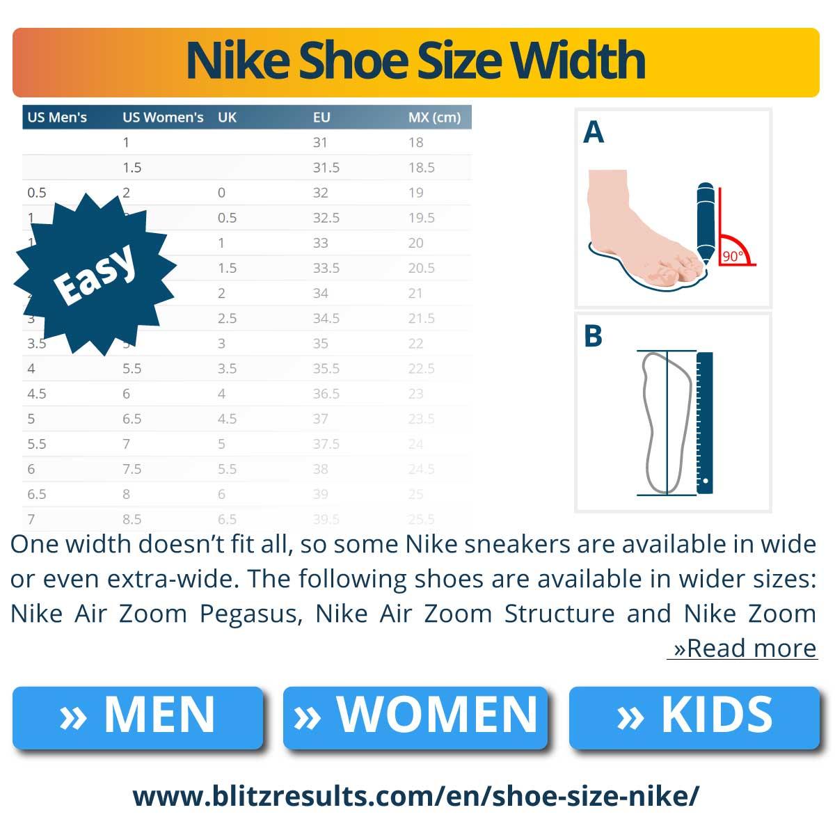 Nike Shoe Size Width