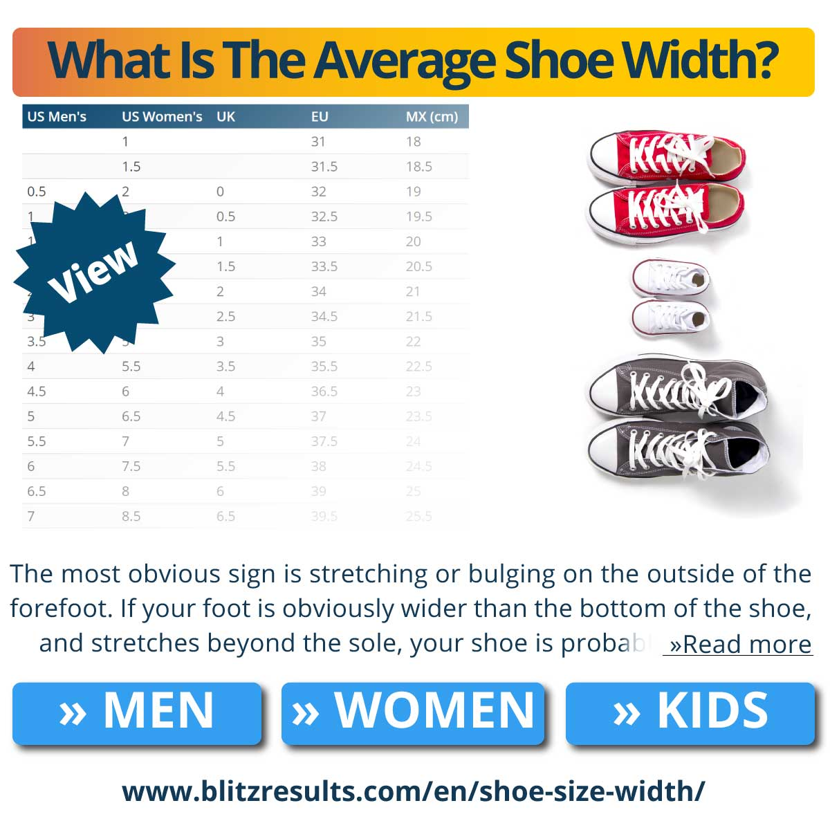 What Is The Average Shoe Width?