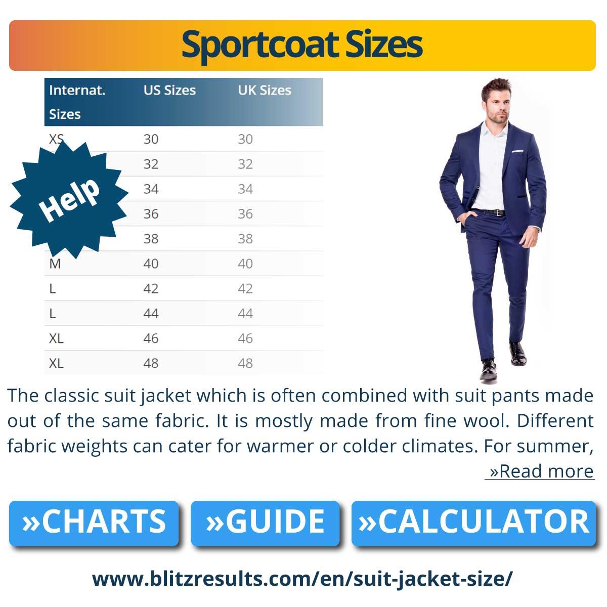 Sportcoat Sizes