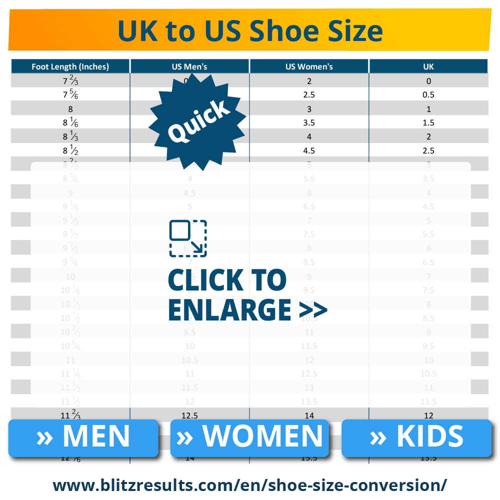 UK to US Shoe Size